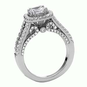 925 Silver Cushion Cut  Engagement Ring